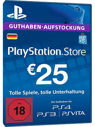 PSN Card 25 Euro [DE] - Playstation Network Guthaben Screenshot